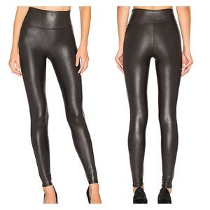 Spanx Faux Leather Leggings Size Small Black